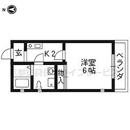サイトKYOTO西院[1-A号室]の間取り
