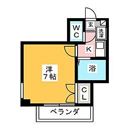 プラティークハイツ[2階]の間取り