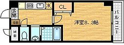 ブランメゾン堀川[10階]の間取り