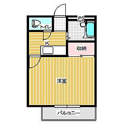 岡山県岡山市中区賞田の賃貸マンションの間取り