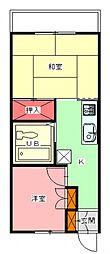 アリス八街[A103号室号室]の間取り