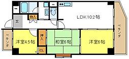 ジョイフル浅島[4階]の間取り