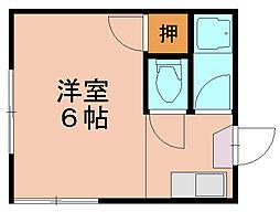 福岡県福岡市博多区三筑2の賃貸アパートの間取り