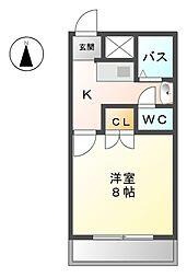 愛知県清須市阿原宮前の賃貸アパートの間取り
