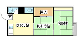 東辻井アパート[2-6号室]の間取り