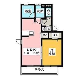 Riviere[1階]の間取り