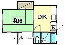 第13三和マンション[205 号室号室]の間取り