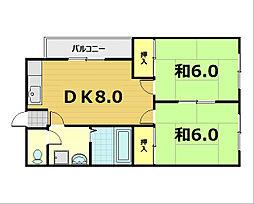 デア・ゼー12[3階]の間取り