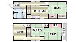 [一戸建] 兵庫県加古川市平岡町一色 の賃貸【兵庫県 / 加古川市】の間取り