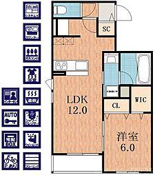 ベル ラーゴ・I 3階1LDKの間取り