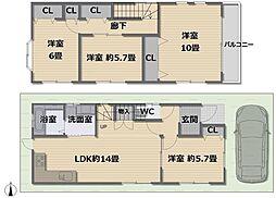 JR東海道・山陽本線 高槻駅 徒歩23分 4LDKの間取り