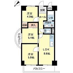 第9柴田ビル[7階]の間取り