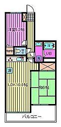 コスモ与野ステーションビュー[9階]の間取り