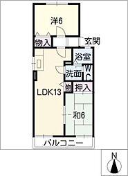 クレイン伏屋[1階]の間取り