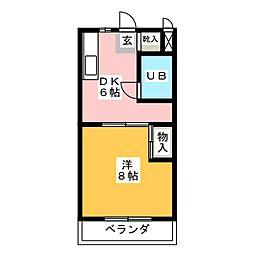 ベストライフ八洲[3階]の間取り