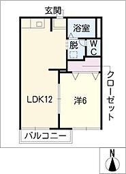 タウニィ山ノ手[1階]の間取り