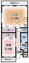 Kグレースコート[3階]の間取り