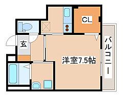 神戸市海岸線 駒ヶ林駅 徒歩4分の賃貸マンション 4階1Kの間取り