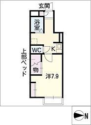 レオパレスAYUTAKU22[1階]の間取り