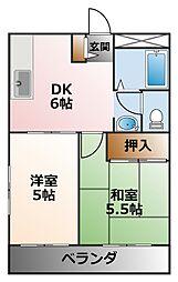 第二西田ビル[3階]の間取り