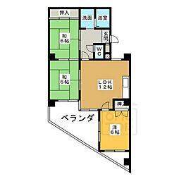日映マンション2[6階]の間取り