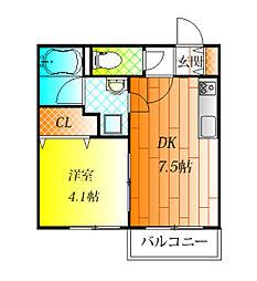 近鉄南大阪線 藤井寺駅 徒歩3分の賃貸アパート 2階1DKの間取り