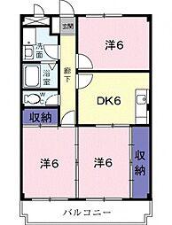 兵庫県三田市天神3丁目の賃貸マンションの間取り