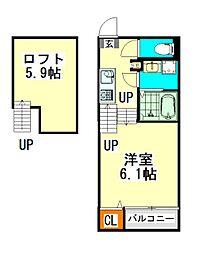 ハーモニーテラス生駒町(ハーモニーテラスイコマチョウ)[1階]の間取り