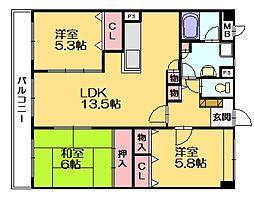 シティパル21[3階]の間取り