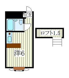 ベルピア天王台[1階]の間取り