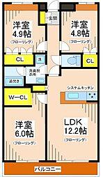 東京都世田谷区北烏山5丁目の賃貸マンションの間取り