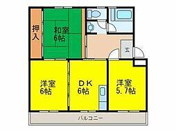国土コーポ[5階]の間取り