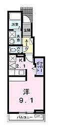 広島県福山市新浜町1丁目の賃貸アパートの間取り