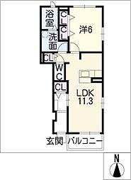 カーサ花の樹 A[1階]の間取り
