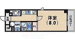 La forme Garden 甲子園口 4階1Kの間取り