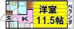 コージィコート桜井[2階]の間取り