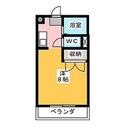 パレス菊川[2階]の間取り