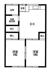 エスポワールハイツ[2階]の間取り