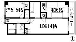 レジデンス豊島[1階]の間取り