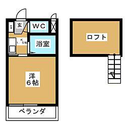 ル・クールK1[2階]の間取り