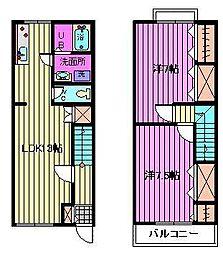 [テラスハウス] 埼玉県さいたま市緑区中尾 の賃貸【/】の間取り