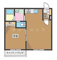 神奈川県横浜市戸塚区汲沢町の賃貸マンションの間取り