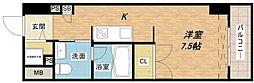 アーデンタワー南堀江[7階]の間取り