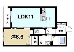 奈良県奈良市三条宮前町の賃貸マンションの間取り
