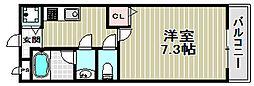 グランソレイユK&J弐番館[2階]の間取り