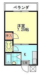 ディアコートC[2階]の間取り