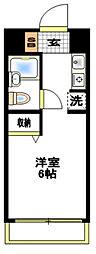 神奈川県大和市鶴間2の賃貸マンションの間取り