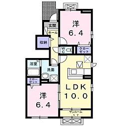 プレジュール ドゥ[1階]の間取り