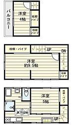 [一戸建] 東京都文京区千駄木2丁目 の賃貸【/】の間取り
