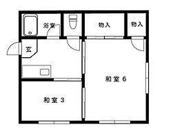 阪急神戸線 御影駅 4階建[205号室]の間取り